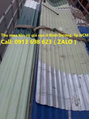 Báo giá mua bán sắt tôn cũ đã qua sử dụng ở Bình Dương, Tp HCM, Long An